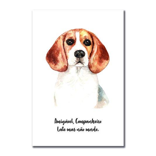 Placa Decorativa Cachorro Beagle Características da Raça