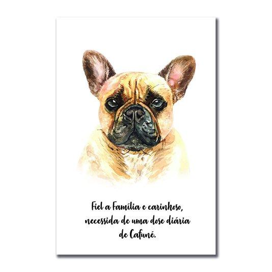 Placa Decorativa Cachorro Buldog Francês Características da Raça