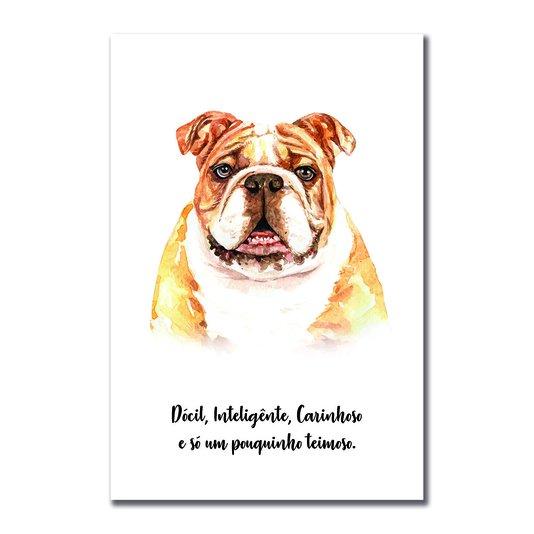 Placa Decorativa Cachorro Bulldog Inglês Características da Raça