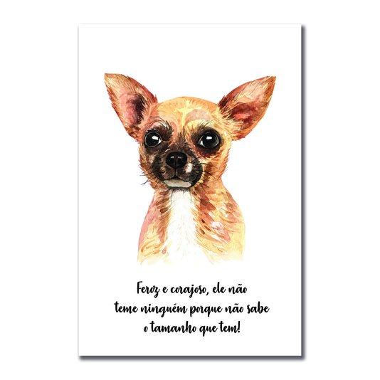 Placa Decorativa Cachorro Chihuahua Características da Raça