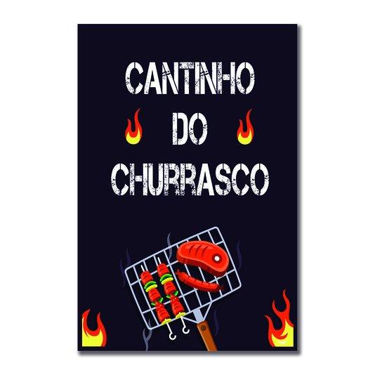 Placa Decorativa Churrasqueira Cantinho do Churrasco