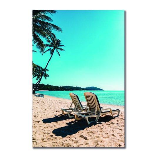 Placa Decorativa Coleção Mar Cadeiras De Praia