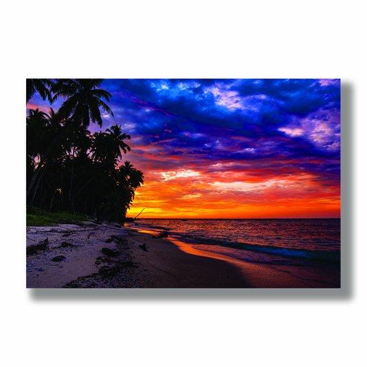 Placa Decorativa Coleção Mar Céu Colorido