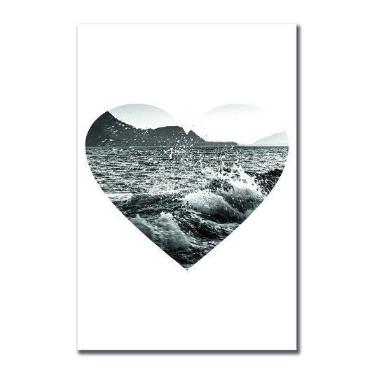 Placa Decorativa Coleção Mar Coração