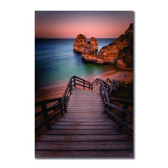 Placa Decorativa Coleção Mar Escada Para À Praia