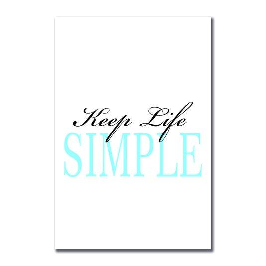Placa Decorativa Coleção Mar Keep Life Simple
