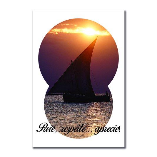 Placa Decorativa Coleção Mar Pare, Respeite... Aprecie!