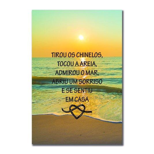 Placa Decorativa Coleção Mar Tirou Os Chinelos, Tocou A Areia...
