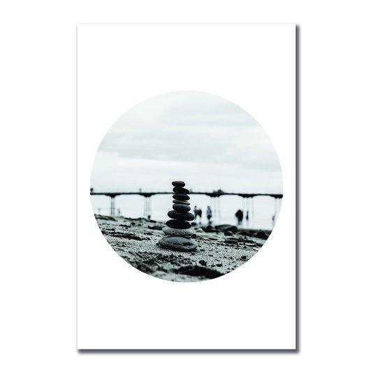 Placa Decorativa Coleção Mar Torre De Pedras