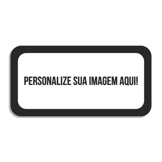 Placa Decorativa Personalizada com mdf 3mm em formato de placa de carro
