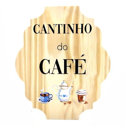 Placa Decorativa de Cozinha em Pinus Cantinho do Café