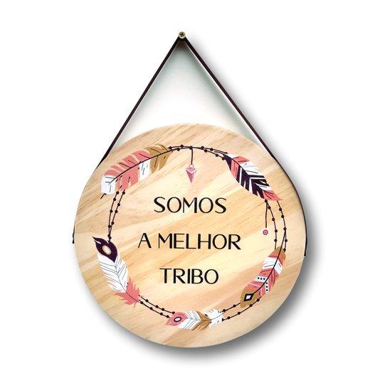 Placa Decorativa De Madeira Pinus Para Porta E Parede Somos A Melhor Tribo