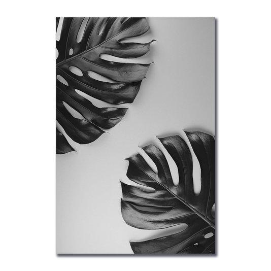 Placa Decorativa Folhas Costela de Adão