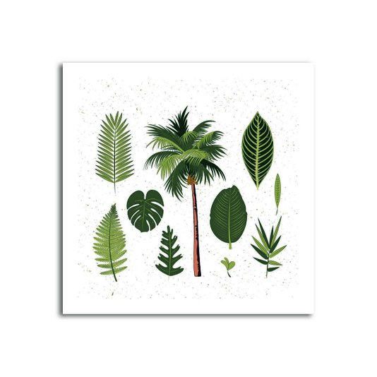 Placa Decorativa Folhas Tropicais
