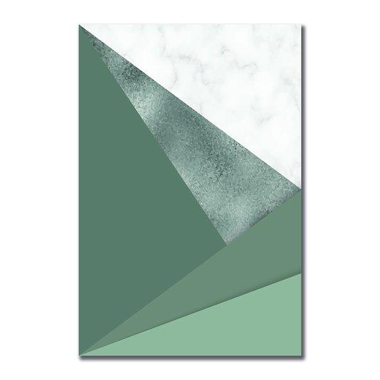 Placa Decorativa Geométrico Acinzentado
