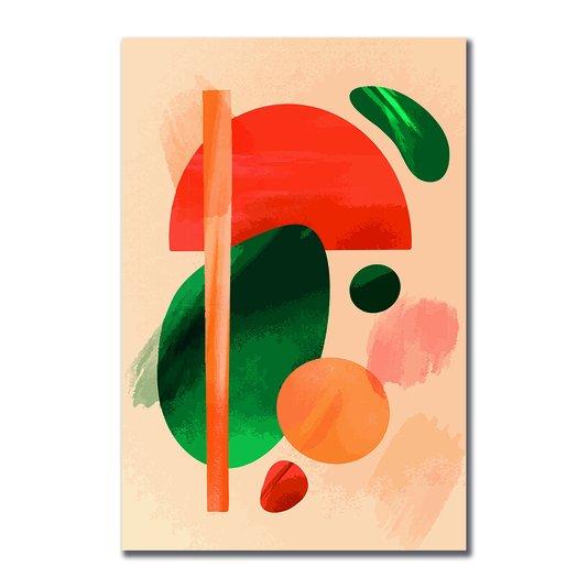 Placa Decorativa Geométrico Colorido