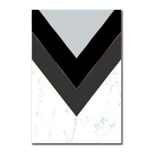 Placa Decorativa Geométrico Marmore Branco