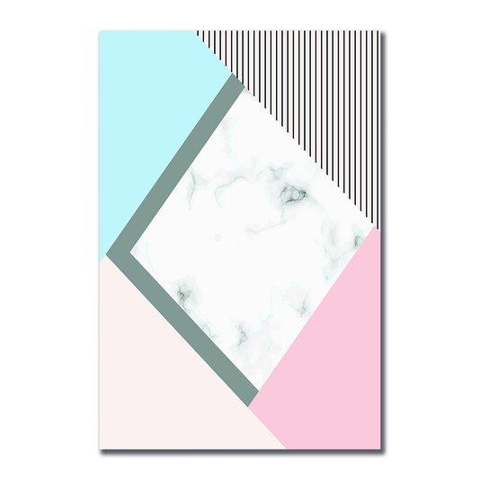 Placa Decorativa Geométrico Tons Claro