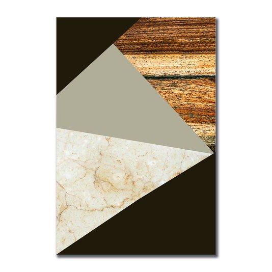 Placa Decorativa Geométrico Tons Marrom