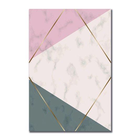 Placa Decorativa Geométrico Triângulo Bege