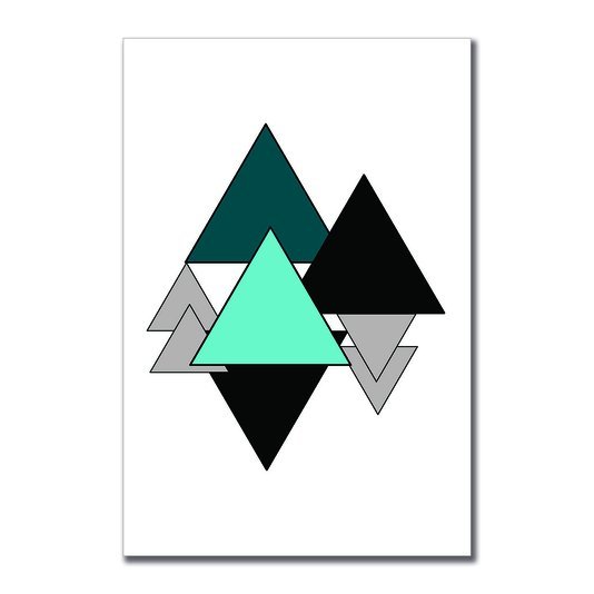Placa Decorativa Geométrico Triangulos