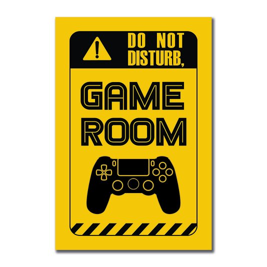 Placa Decorativa Nerd Geek Aviso Do Not Disturby. Game Room