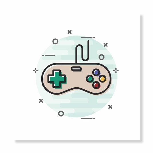 Placa Decorativa Nerd Geek Games Console de Videogame
