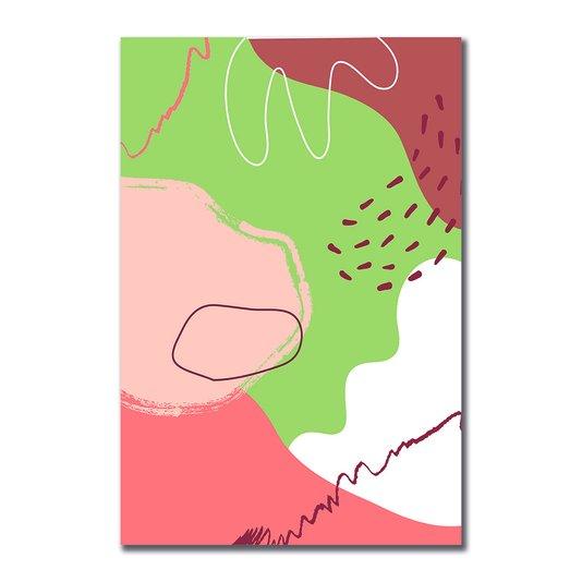 Placa Decorativa Silhueta Detalhes Marrons