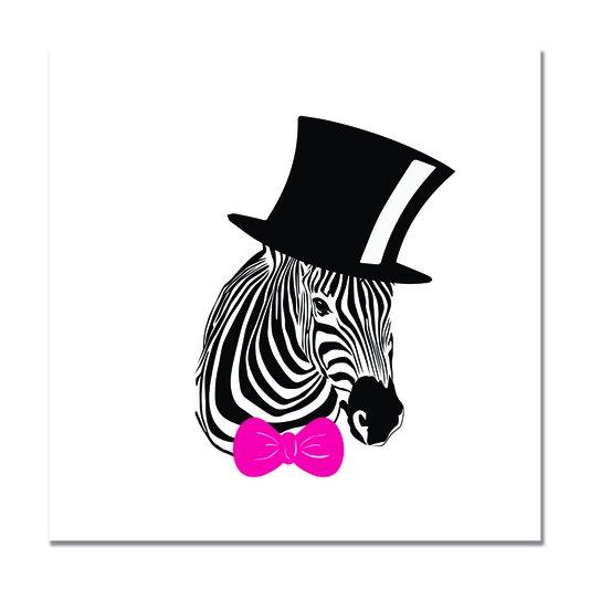Placa Decorativa Zebra Pop Art