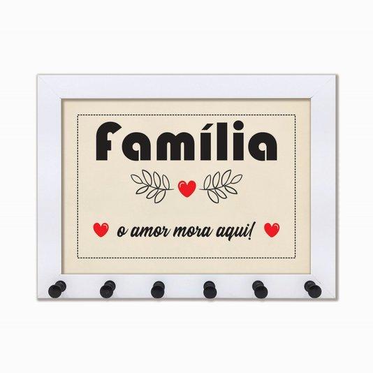 Porta Chaves Família - o amor mora aqui