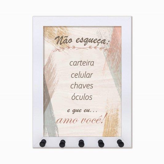 Porta Chaves Não esqueça: carteira, celular ...
