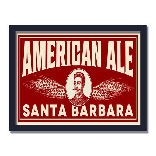 Quadro Decorativo American Ale Santa Barbara