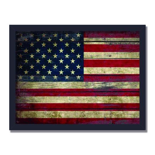 Quadro Decorativo Bandeira dos Estados Unidos Vintage