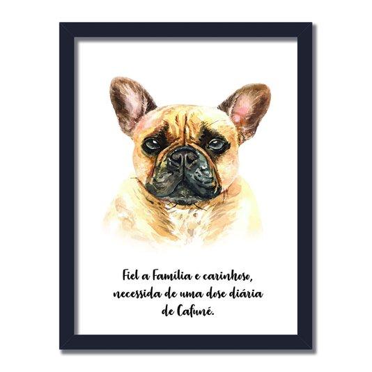 Quadro Decorativo Cachorro Buldog Francês Características da Raça