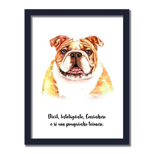 Quadro Decorativo Cachorro Bulldog Inglês Características da Raça