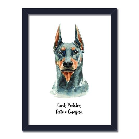 Quadro Decorativo Cachorro Doberman Características da Raça