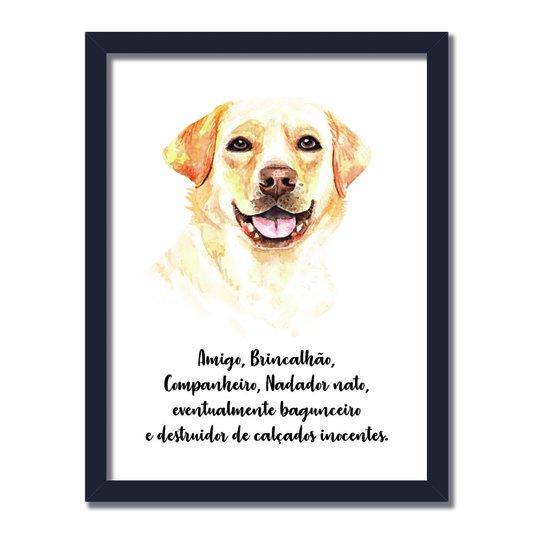 Quadro Decorativo Cachorro Labrador Características da Raça
