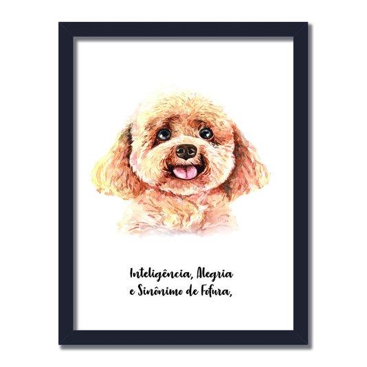 Quadro Decorativo Cachorro Poodle Características da Raça