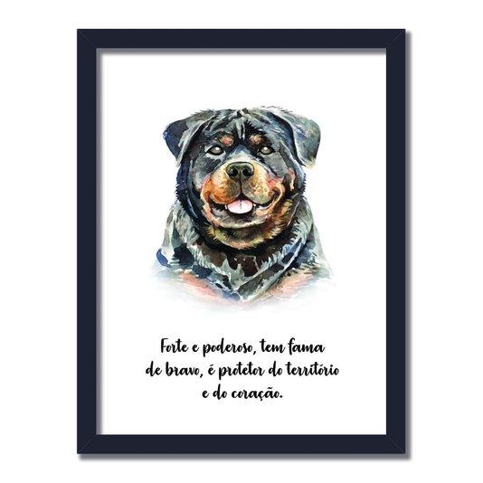 Quadro Decorativo Cachorro Rottweiler Características da Raça