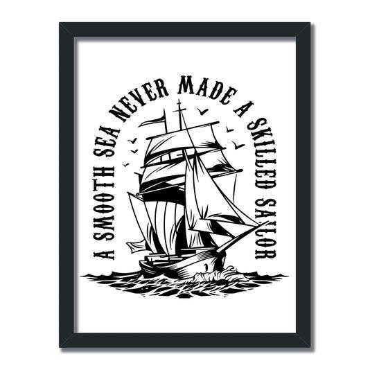Quadro Decorativo  Coleção Mar A Smooth Sea Never...