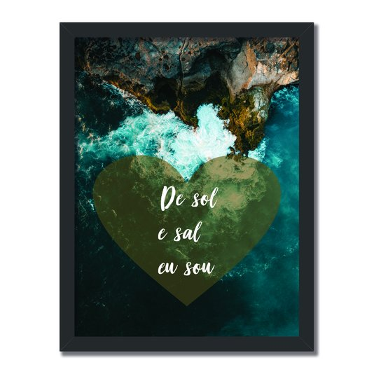 Quadro Decorativo  Coleção Mar De Sol E Sal Eu Sou