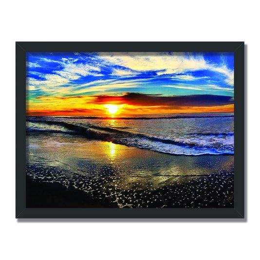 Quadro Decorativo  Coleção Mar Pôr Do Sol Na Praia