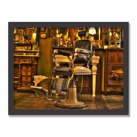 Quadro Decorativo Foto Cadeira de Barbeiro