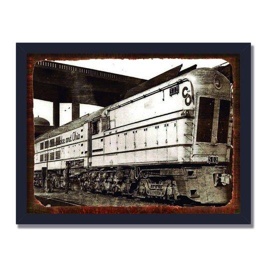 Quadro Decorativo Foto Locomotiva Antiga