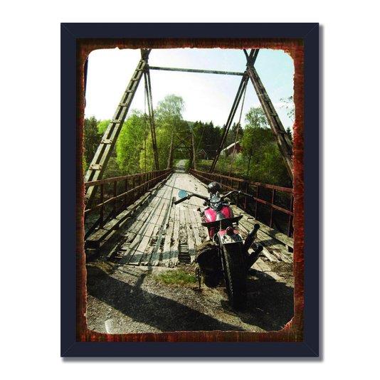 Quadro Decorativo Foto Moto em Ponte