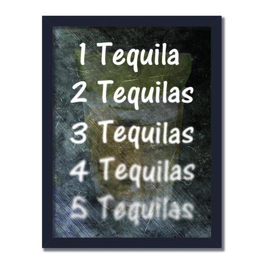Quadro Decorativo Frases de Boteco - 1 Tequila 2 Tequilas 3 Tequilas 4 Tequilas 5 Tequilas