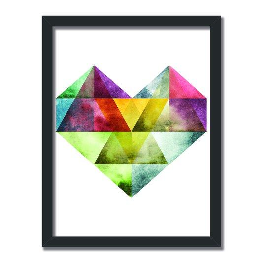 Quadro Decorativo Geométrico Coração