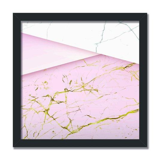 Quadro Decorativo Geométrico Detalhes Dourado