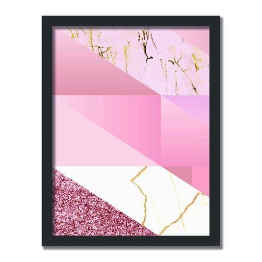Quadro Decorativo Geométrico Rose