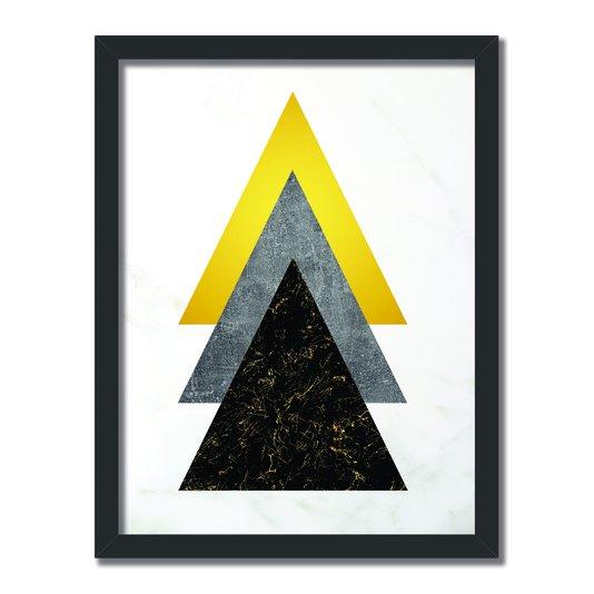 Quadro Decorativo Geométrico Tons De Marmore